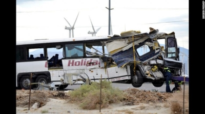 13 Killed and 31 Injured in Tour Bus Crash in Palm Springs