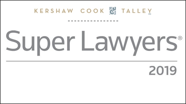 Partners Bill Kershaw & Stu Talley Selected to 2019 Super Lawyers List, Partner Ian Barlow Selected to Rising Stars List